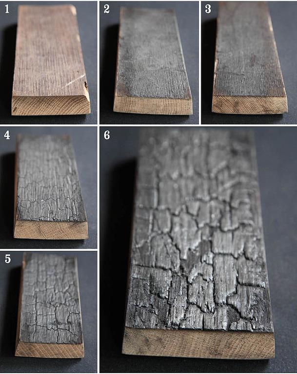 Степени обжига дубовой бочки